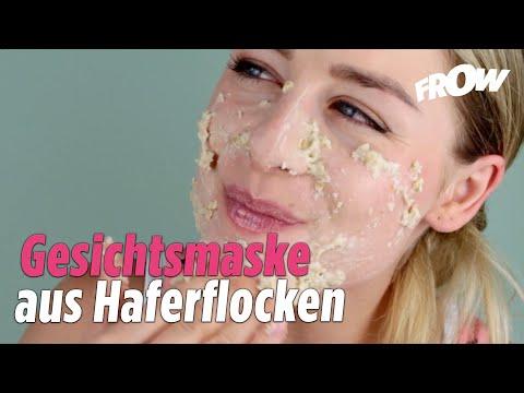 Gesichtsmaske aus Haferflocken