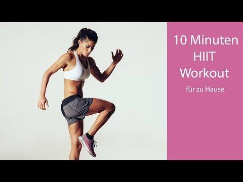 10 Minuten HIIT Workout / Fettabbau durch Intervalltraining