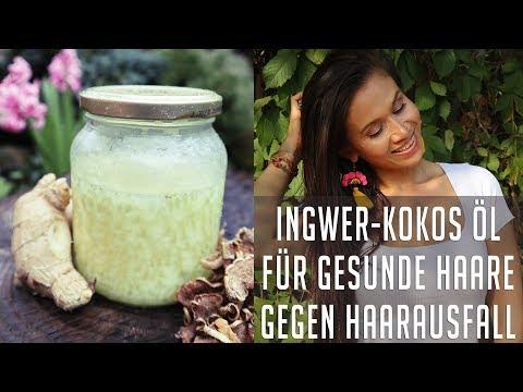 Ingwer-Kokosöl gegen Haarausfall | Für starke Haarwurzel und gesunde Kopfhaut