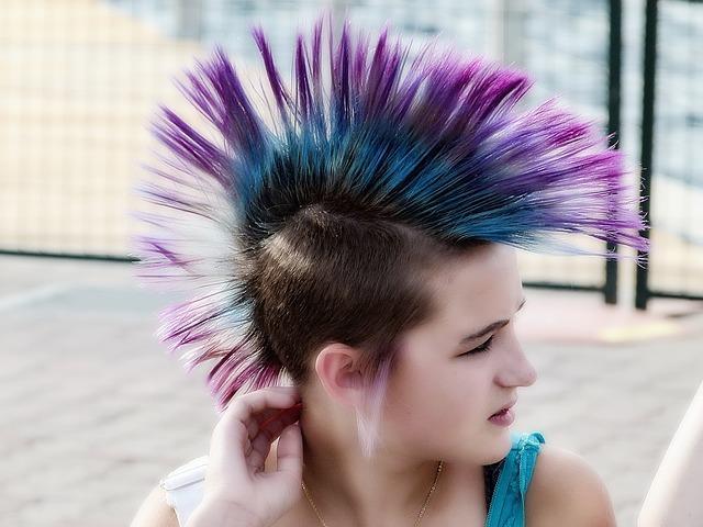 gefärbte Haare - Punk